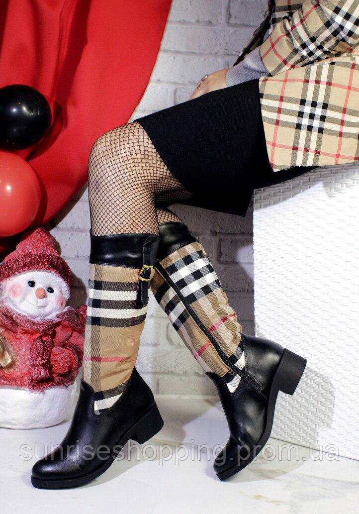 27159b1fbaa7 Комфортные и стильные зимние сапоги Бёрберри в клетку  продажа, цена ...