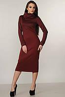 Теплое платье Фроузен Ри Мари р.42-52 бордо