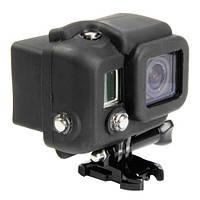 Силиконовый чехол, футляр для бокса экшн камер GoPro Hero 3, 3+, 4, 4+ - черный (код № XTGP99)