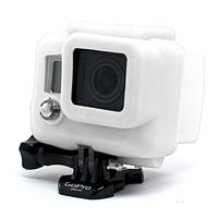 Силиконовый чехол, футляр для бокса экшн камер GoPro Hero 3, 3+, 4, 4+ - белый (код № XTGP99)