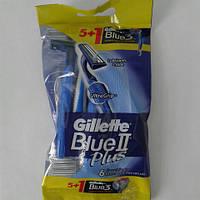 Gillette жиллетт Blue II Plus станок мужской одноразовый 5 шт.+1 шт. Blue 3, фото 1
