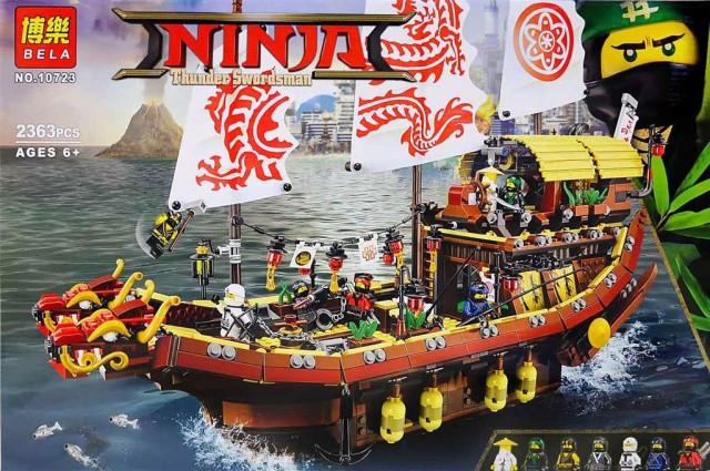 Конструктор Bela 10723 Ninjago Movie Ниндзяго Муви Летающий корабль Мастера Ву 2363 дет