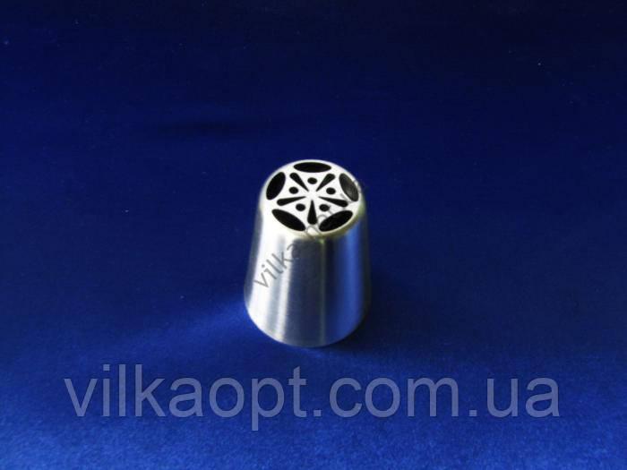 Насадка кондитерская металлическая круглая №4 - 3,2 х 1,7 см.