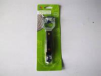Консервооткрыватель металлический с пластмассовый с цветной ручкой 13 см.
