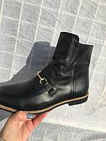 Ботинки высокие низкий ход натуральная кожа