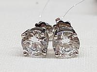 Серебряные пуссеты фианитами. Артикул 902-00263, фото 1