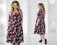 Очень красивое женское платье большого размера (батал)