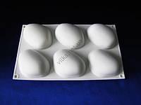 Форма силиконовая для муссовых тортов на планшете (6 шт) Камень XY-C187  29 х17 х 3 см.