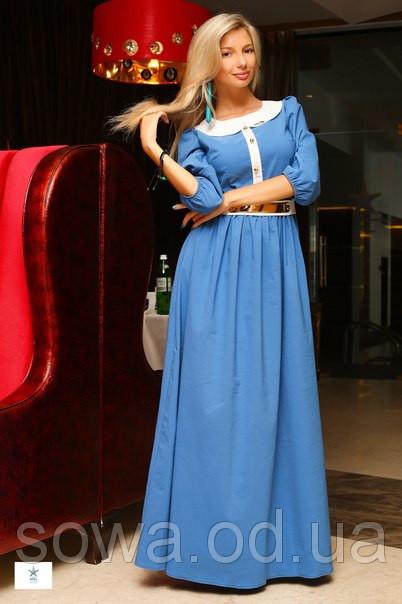 Вчернее Женское Платье Палацио голубое фото
