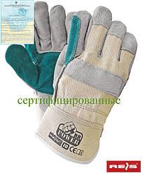 Перчатки кожаные рабочие Reis Польша RBPOWER BEJSY
