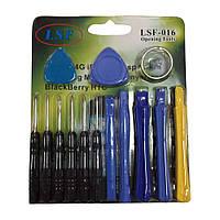 Набор инструментов LSF-016 (6 отвёрток, 2 медиатора, 5 лопаток для розборки, присоска для снятия стекла)
