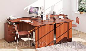 Столы компьютерные угловые  СК-3732 755х2350х1600мм фасад МДФ   Комфорт