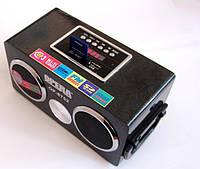 Мини колонка Opera OP-8752 6W, 220v MP3 SD USB FM, черная