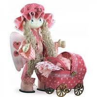 Набор для шитья текстильных кукол Ангелок высотой 50см Новая слобода