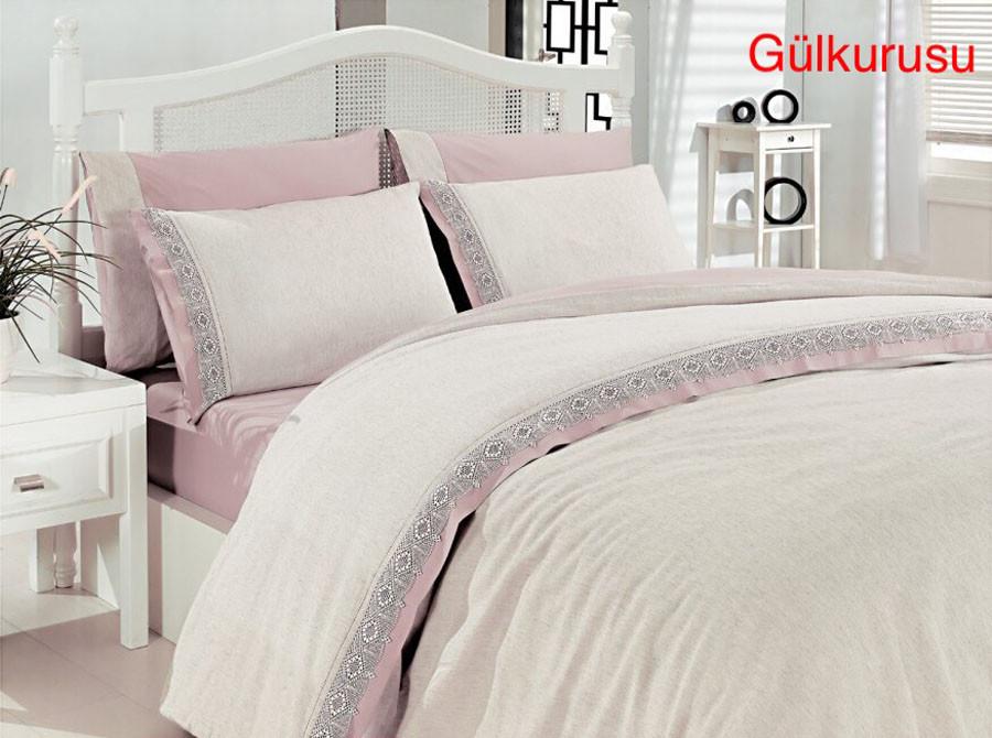 Постельное белье Altinbasak лён (евро-размер) № Лён-Gulkurusu