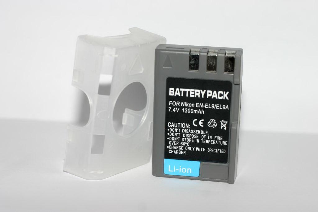 Аккумулятор для фотоаппаратов NIKON D40, D60, D40x, D3000, D5000, D3x - EN-EL9a (аналог) - 1300 ma