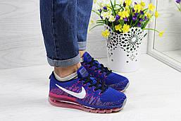 Кросівки жіночі літні Nike Air Max 2017 текстильні дихаючі повсякденні кросы в стилі найк сині з рожевим