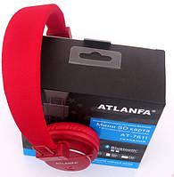 Наушники ATLANFA AT-7611 гарнитура с MP3 FM Bluetooth, красные