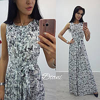 Платье размер 42-46 ткань креп шифон(21380)