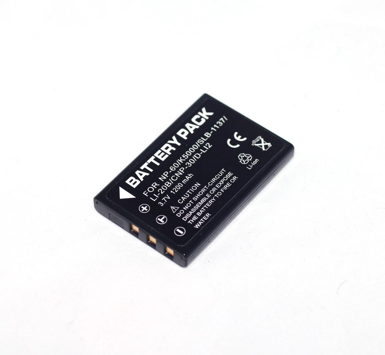 Акумулятор для камер CASIO - NP-30 (Li-20B, KLIC-5000, LI-20B, D-L12, NP-60) - аналог на 1200 ма