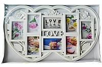 """Большая мультирамка - коллаж из пластика """"LOVE"""" (рамка для фотографий на стену)"""