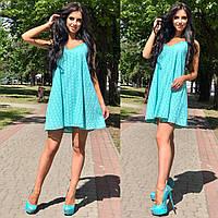 Платье им Enneli Размер S M Ткань прошва Цвет ментол.(11001)