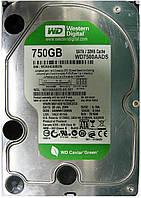 HDD 750GB SATA2 3.5 WD Green WD7500AADS WCAU4C630576, фото 1