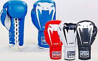 Перчатки боксерские на липучке Venum Giant 5786: 10-14 унций, кожа