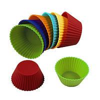 """Силиконовый набор для выпечки """"Кексики круглые"""" 9х4,5 см( 10 шт)"""
