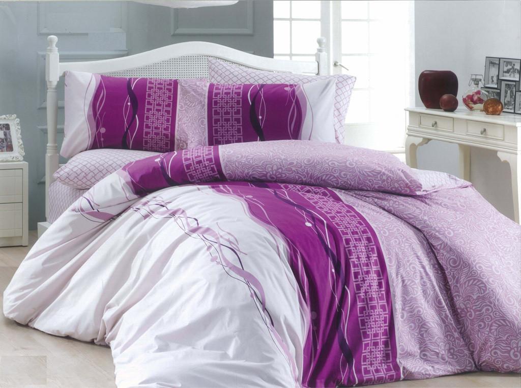 Полуторный комплект постельного белья 150х220 из бязи Голд Абстрактная полоска