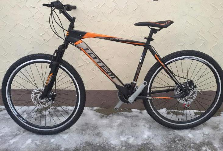 """Горный велосипед TOTEM MTB Thought 26"""" 13""""  Черный/Оранжевый"""