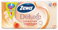 Туалетний папір ZEVA Deluxe  3-х шаровий , 8 рулонів /упаковка