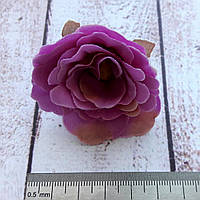 Головка розы прованс красно-розовая 5 см