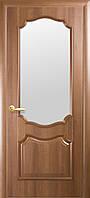 Дверное полотно Рока со стеклом сатин (Золотая ольха / ПВХ DeLuxe)