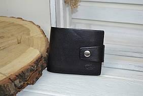Кожаное черное портмоне