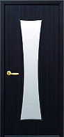 Дверное полотно Часы со стеклом сатин (Венге DeWild / Экошпон)