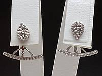 Серебряные серьги с фианитами. Артикул 902-00980, фото 1