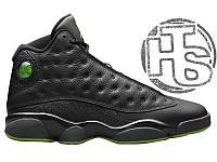 Мужские кроссовки Air Jordan 13 XIII Retro Altitude Black/Green 414571-042 42