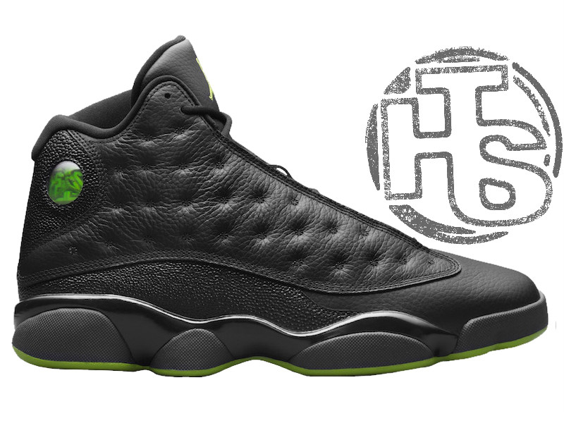 f8aa37bc Мужские кроссовки Air Jordan 13 XIII Retro Altitude Black/Green 414571-042  - Интернет