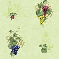Обои бумажные влагостойкие Виноград салатовый 2152