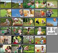 Дії дітей в рослинному світі. Карточки односторонні. 27 шт.
