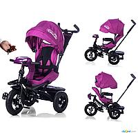 Велосипед-коляска с поворотным сиденьем, надувные колеса TILLY CAYMAN T-381 Фиолетовый ***