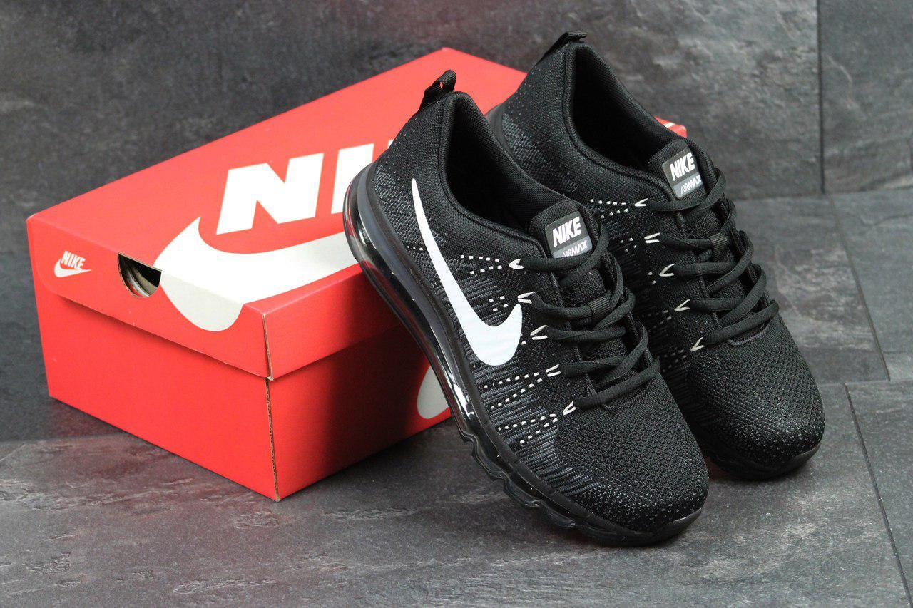 Кроссовки мужские Nike Air Max 2017 (черно-белые), ТОП-реплика