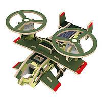 Деревянный 3Д пазл на солнечных батарейках RoboTime Вертолет Самсон (P350S)