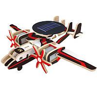 Деревянный конструктор на солнечных батарейках Самолет радиолокационной разведки (P340S)