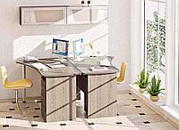 Столы компьютерные угловые с полками  СК-3734 755х1800х1430мм фасад МДФ   Комфорт