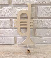 "Ключница, вешалка настенная деревянная ""Нота"" rd27"