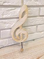 """Ключница, вешалка настенная деревянная """"Музыкальный ключ"""" rd26"""