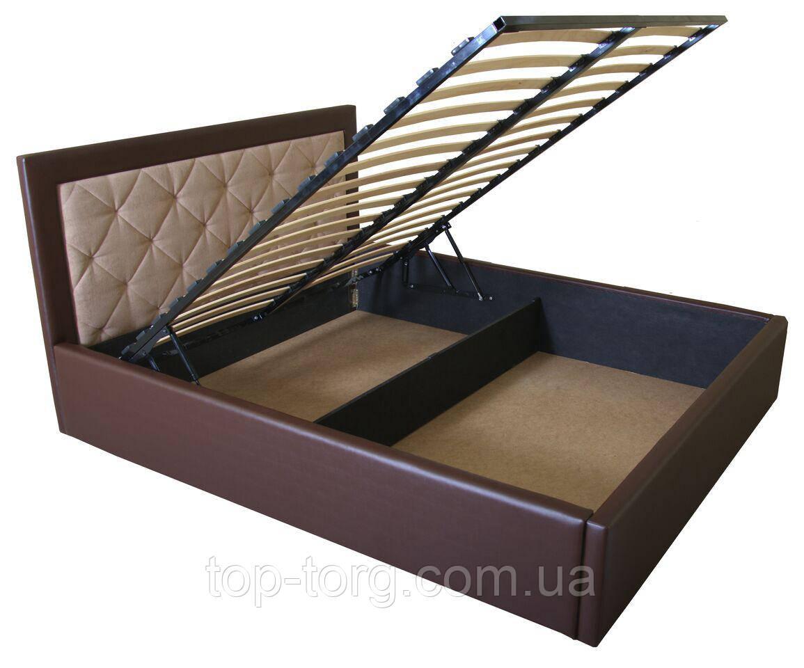 Кровать IRMA lift 1600x2000 beige/brown