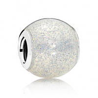 Подвеска-шарм Сверкающий шар, серебристый блеск